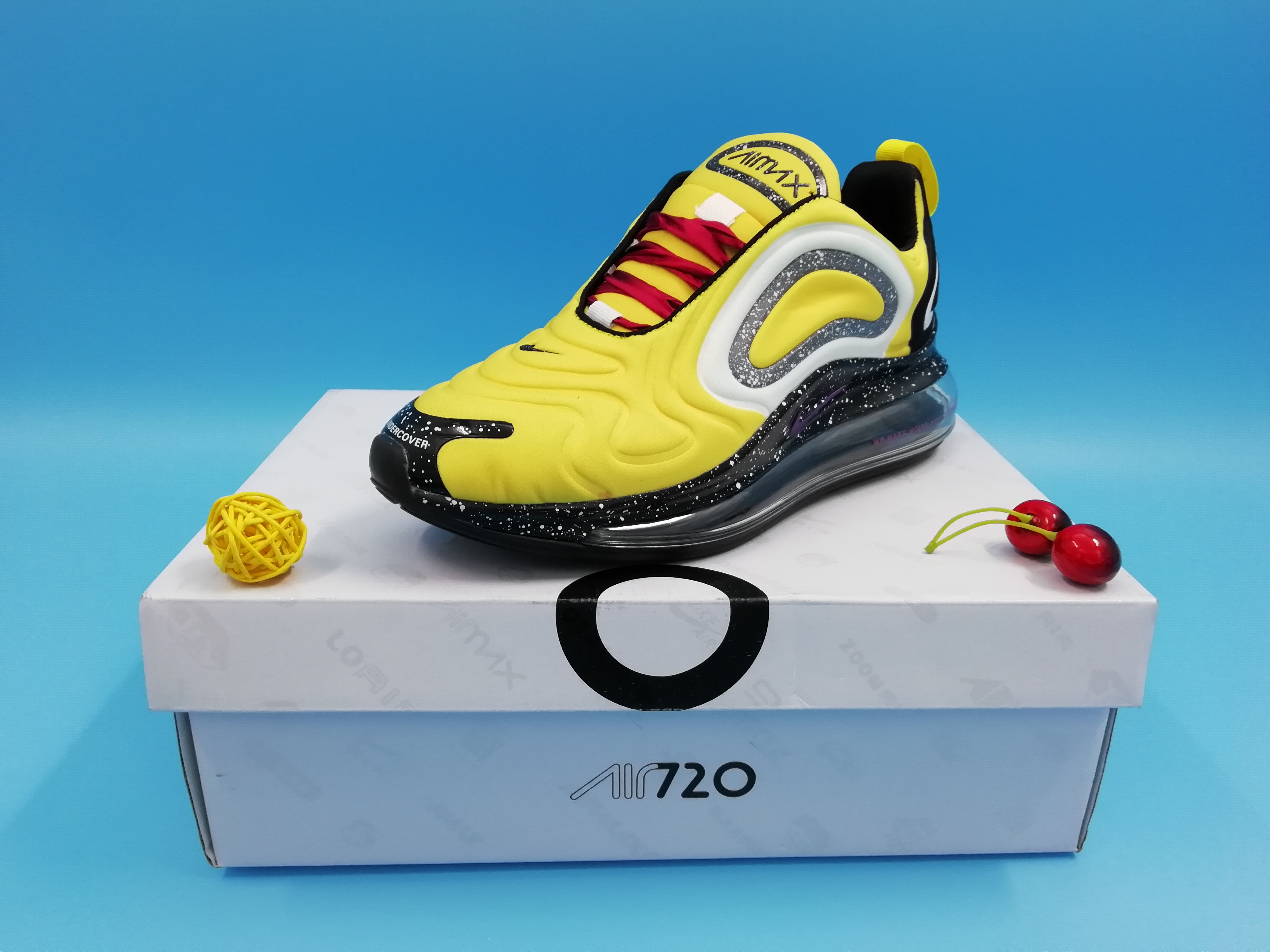 Real Nike Air Max 720 Yellow Black Red