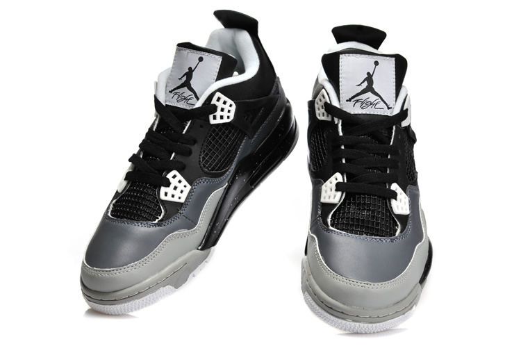 2013 Jordan 4 Retro Black Grey Shoes
