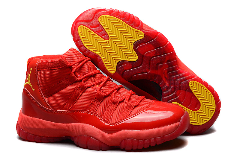 Shop Air Jordan 11 Retro Red October Red Varsity Maize For Mens