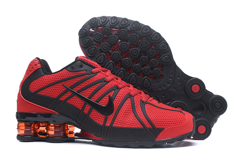 Women New Nike Shox Plastic Surface Red Black