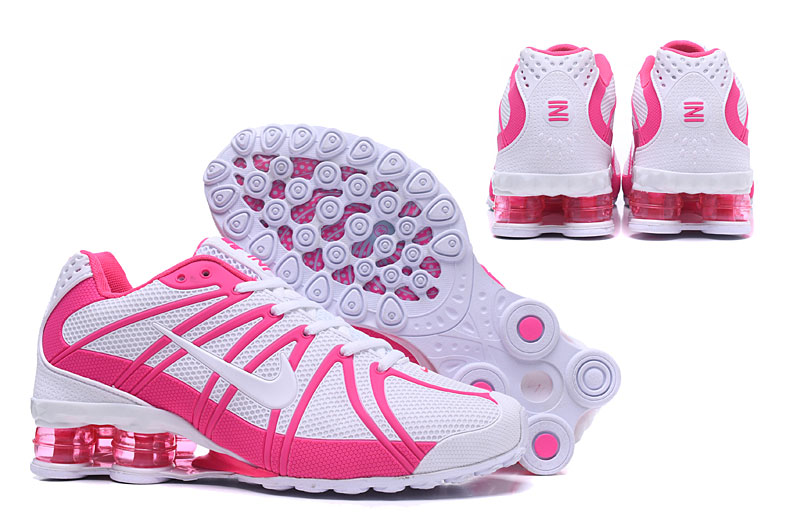 Women New Nike Shox Plastic Surface White Pink