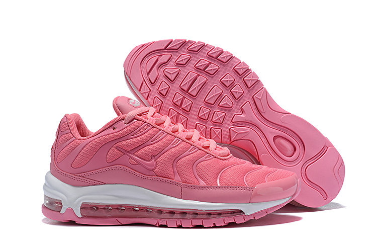Women Nike Air Max 97 Plus Pink White Shoes