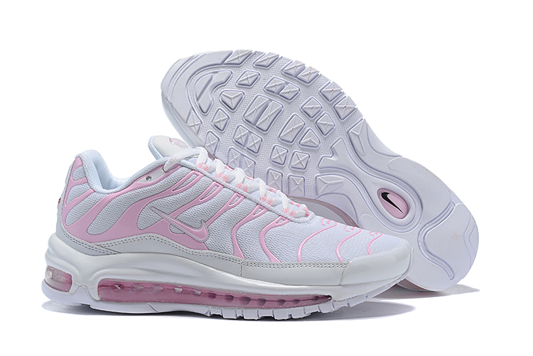 Women Nike Air Max 97 Plus White Pink Shoes