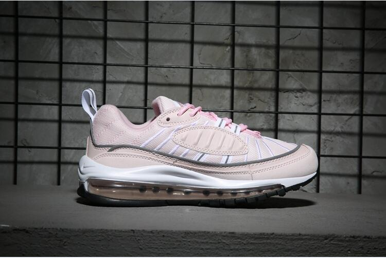 Women Nike Air Max 98 Pink White Shoes