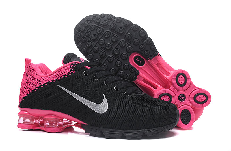 Women Nike Air Shox 628 Flyknit Black Peach