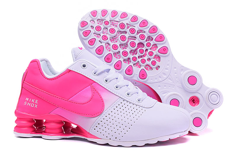 Women Nike Shox Delivery White Peach