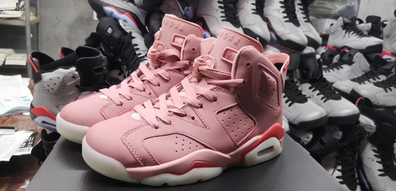Women Jordan Shoes 6 Pink For Cheap