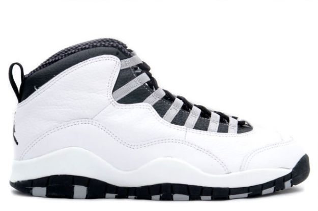 cheap jordan 10 steels white black light steel grey shoes
