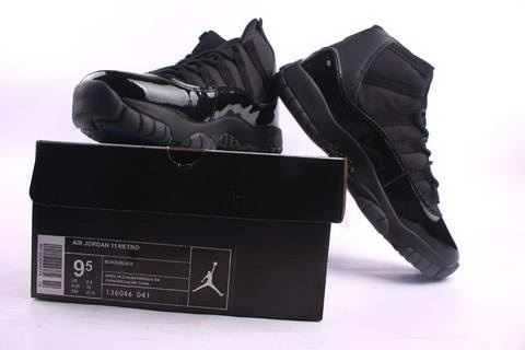 original jordan retro 11 all black shoes