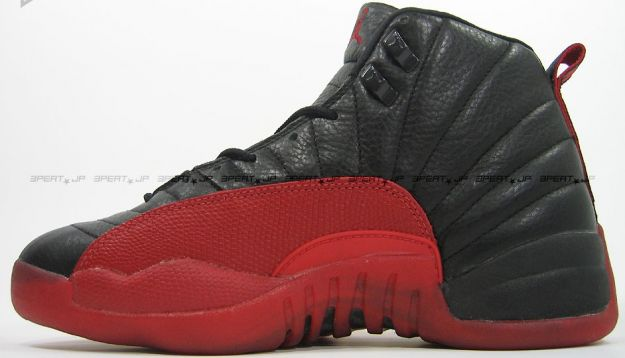 original jordan retro 12 playoffs black varsity red shoes
