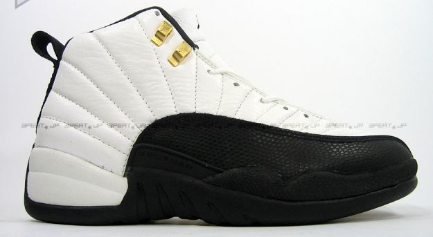original jordan retro 12 taxi white black gold shoes