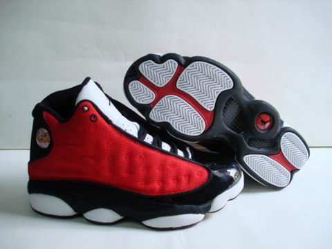 reputable site d0706 aadd8 discount authentic air jordan 13 white black red shoes