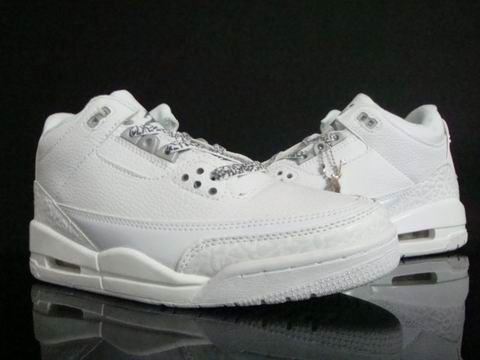 Original Jordan 3 All White Shoes