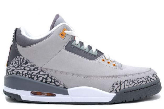 Original Jordan 3 Silver Sport Red Light Graphite Orange Peel Shoes