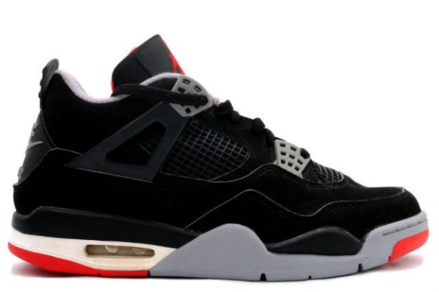 cheap authentic jordan 4 1999 black cement grey shoes
