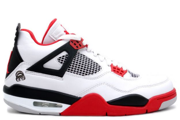 cheap authentic jordan 4 mars blackmon white varsity red black shoes