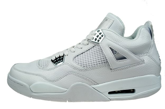 cheap authentic jordan 4 pure money white metallic silver shoes