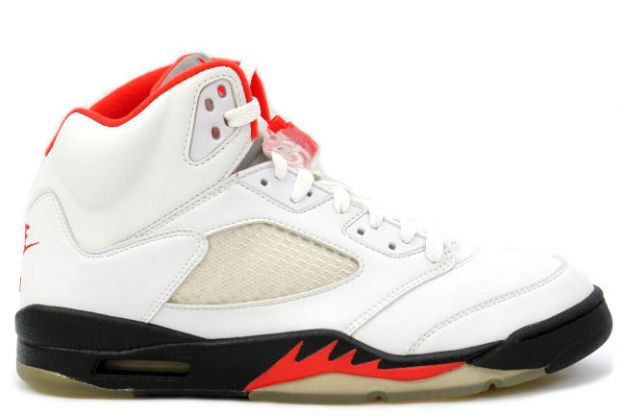 cheap and comfortable jordan 5 fire red white black fire red shoes