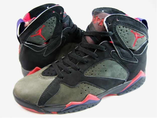 Cheap Original Jordan 7 Black Dark Charcoal True Red Shoes