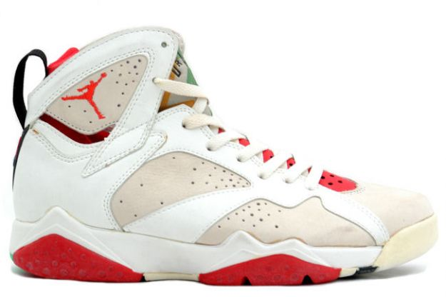Cheap Original Jordan 7 Hare White Light Silver True Red Shoes