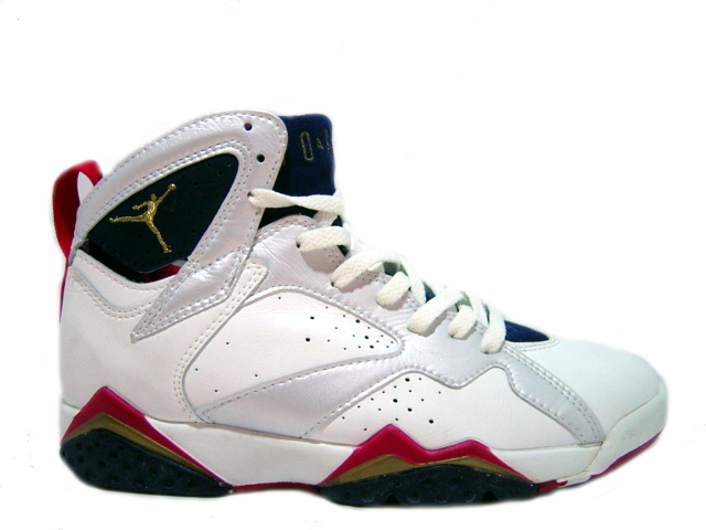 Cheap Original Jordan 7 Olympics White Navy True Red