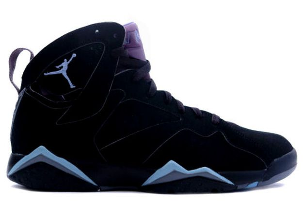 air jordan 7 retro black chambray light graphite shoes