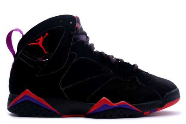 air jordan 7 retro black dark charcoal true red shoes
