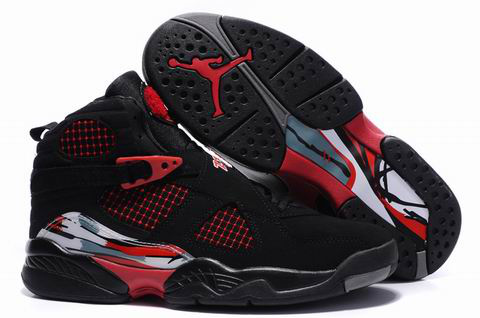 cheap real jordan 8 black true red shoes