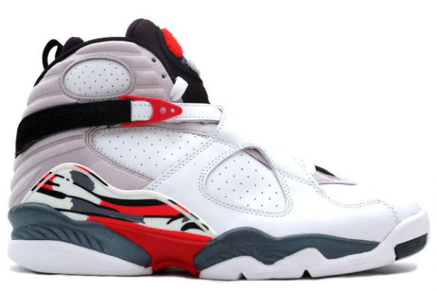 cheap real jordan 8 white black true red shoes